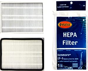 EnviroCare Replacement Kenmore HEPA 86889-EF1 3 pk, 3 Filters, White