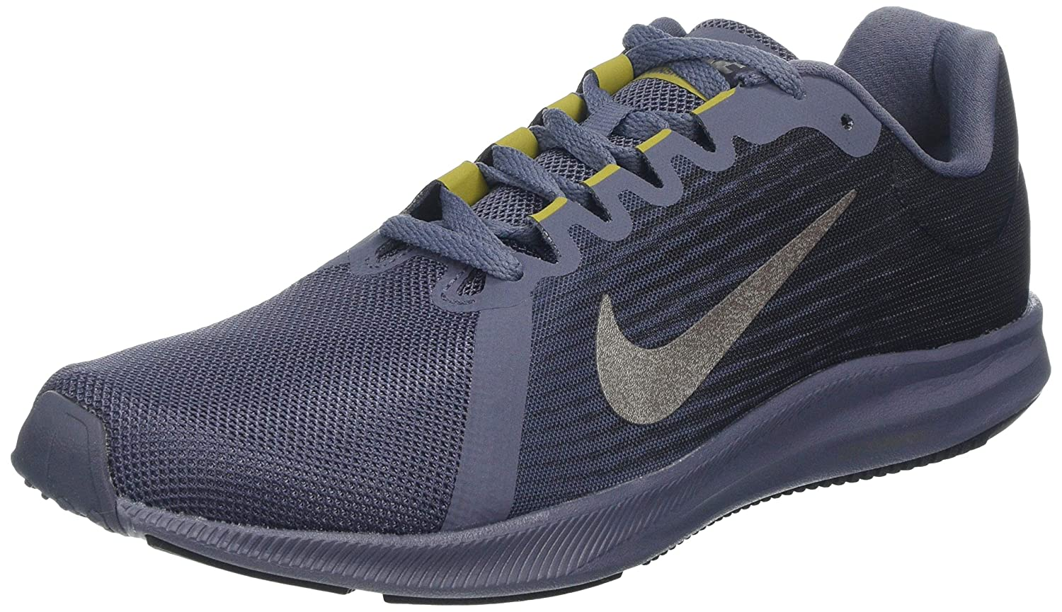 gris (Light Carbon Metallic Pewter-peat Moss-noir 011) Nike Downshifter 8, Chaussures de Running Homme 42 EU