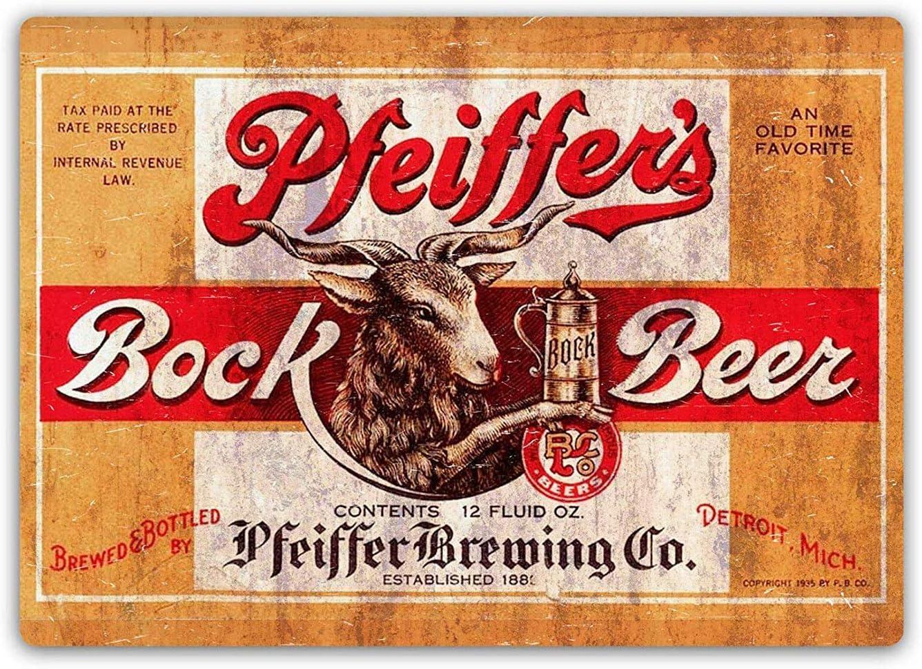 Lorenzo Pfeiffers Bock Beer Vintage Metal Hierro Pintura Placa ...