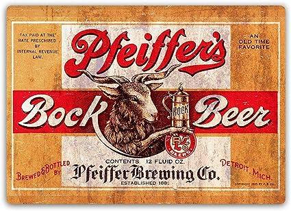Lorenzo Pfeiffers Bock Beer Vintage Metal Hierro Pintura ...
