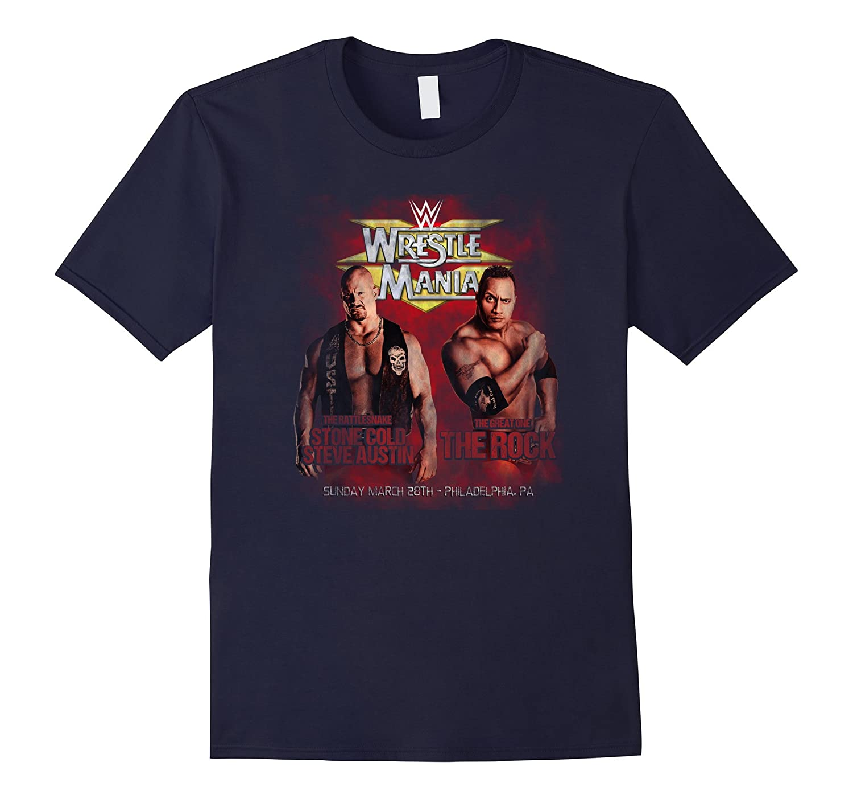 WWE Vintage WrestleMania XV Stone Cold vs The Rock T-Shirt-ah my shirt one gift