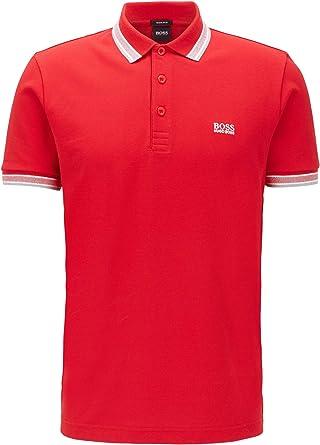 Hugo Boss verde Paddy Polo camiseta color blanco, Rot (Medium Red 610), XX-Large: Amazon.es: Ropa y accesorios