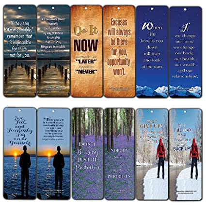 7bab3e89bb8f Amazon.com : Bookmarks for Men Women (60-Pack) - Quotes to Live by ...