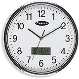 CARVEN CL285SLCD Clock LCD Date 285MM, White