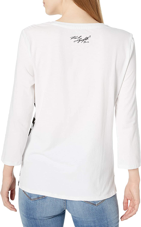 Karl Lagerfeld Paris Womens /¾ Sleeve Shirt