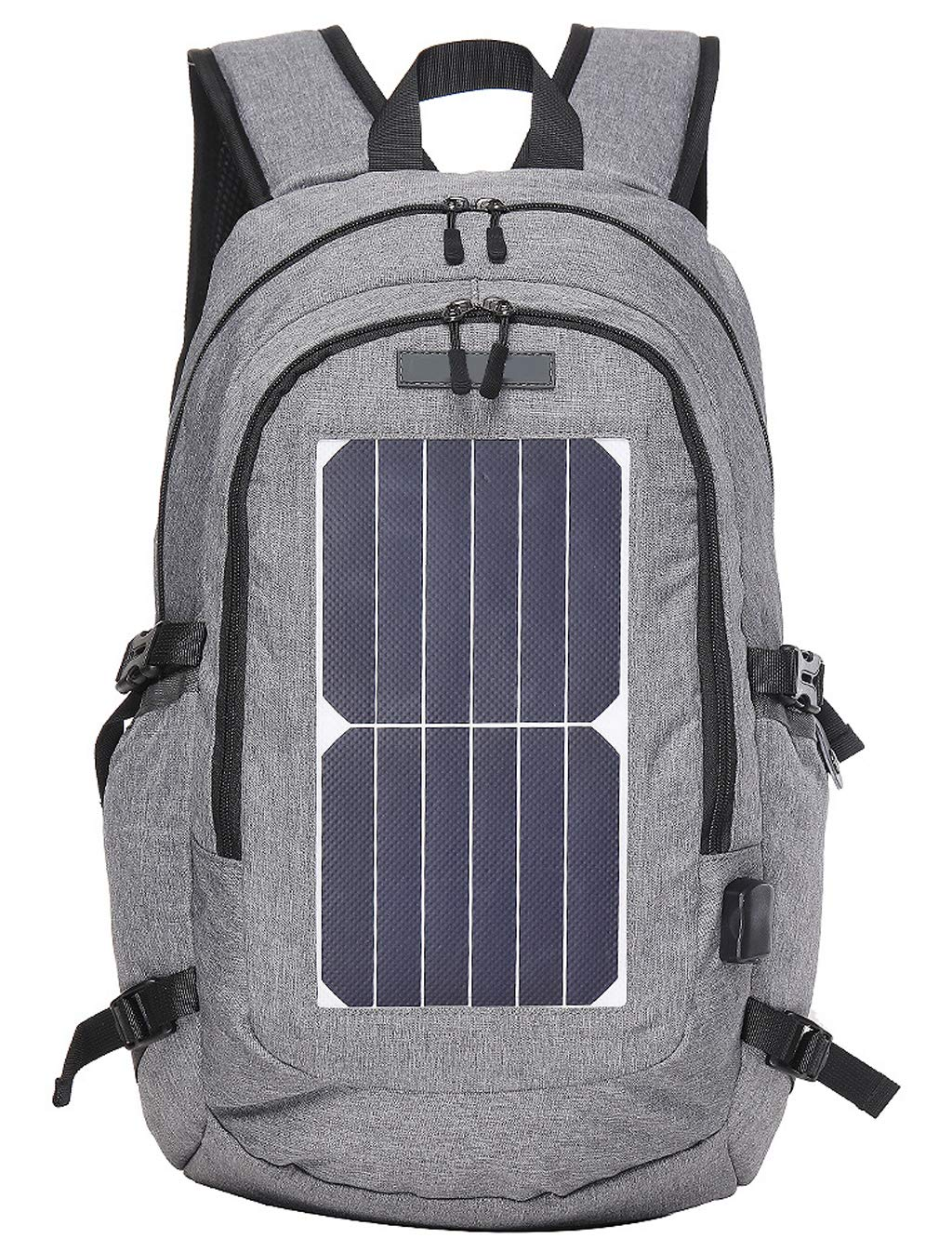 Edith qi Solar Backpack,Laptop Backpack, Business Bags with 5V USB Charging Port Water Resistant School Bookbag for College Travel Backpack for Laptop and Notebook