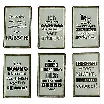 Tolle Kühlschrank-Magnete im 6er Set Sprüche witzig lustig Pinnwand ...
