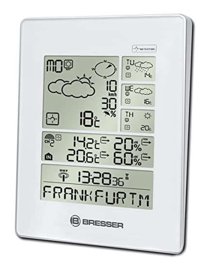 Bresser Weather Station 4cast LX, 4-Day Weather Forecast (Meteotime) with  Outdoor Sensor