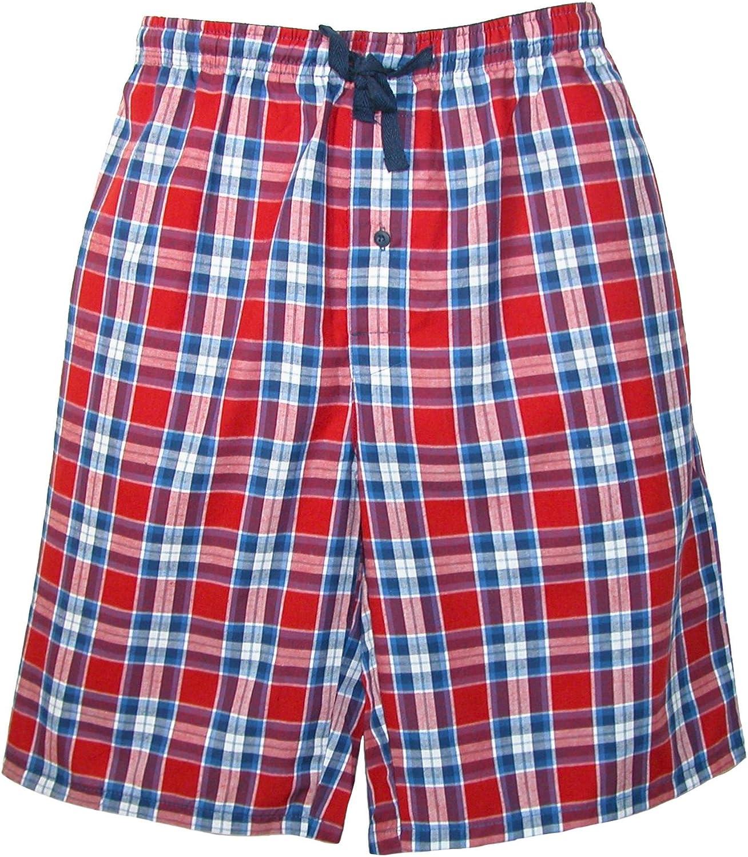 Hanes Pyjama Shorts mit Baumwolldruck und Stiefmutter f/ür M/änner