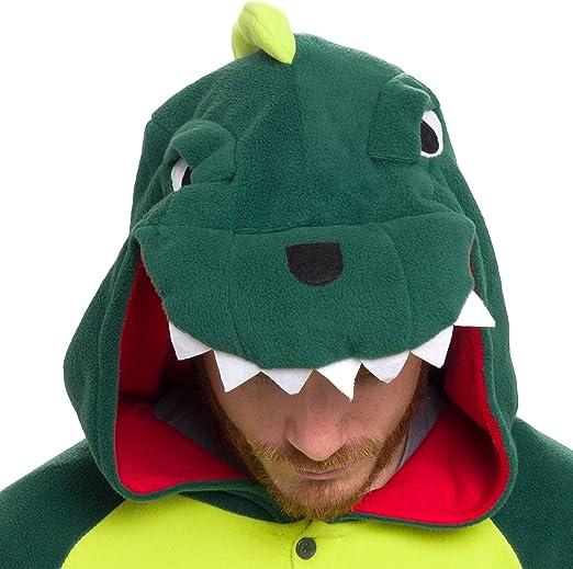 Amazon.com: Silver Lilly Unisex Adult Pajamas - Plush One Piece Cosplay Dinosaur Animal Costume: Clothing