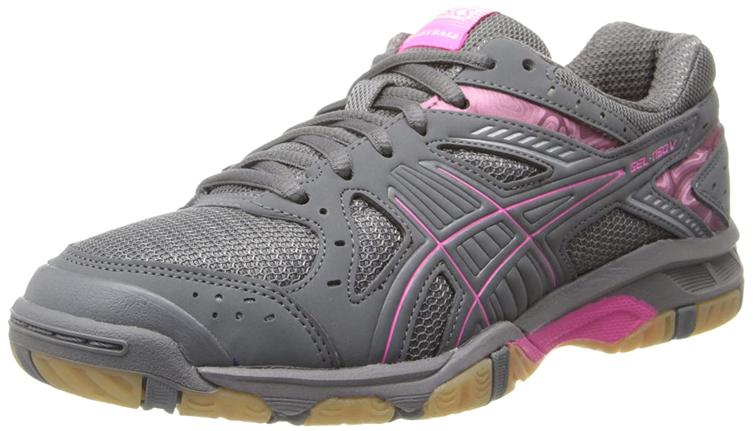 ASICS Women's Gel 1150V Volley Ball Shoe B00GY05FIW 12 B(M) US|Smoke/Knock Out Pink/Silver