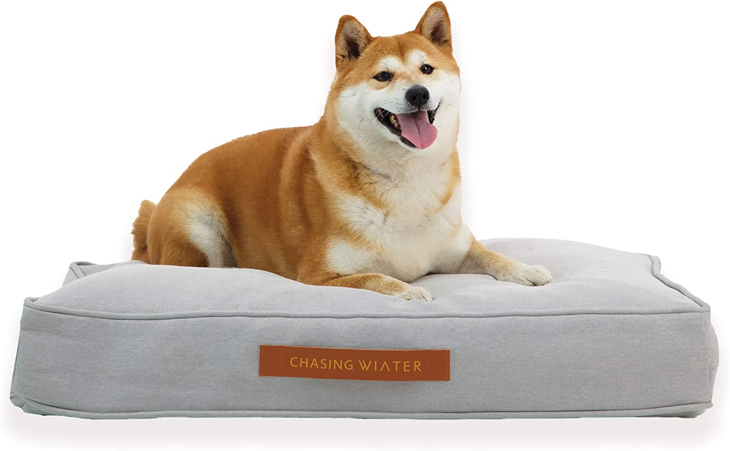 Chasing Winter Pet Beds/Dog Beds/Calming Bed for Dogs with Orthopedic Memory Foam, Removable Cover, Heavy-Duty Linen Look Cover