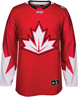 adidas Team Canada 2016 World Cup of Hockey Men's Premier Red Jersey Maillot