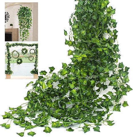 Artificial Green Plant Silk Leave Eucalyptus Vine Party Room Backdrop Decor 2019