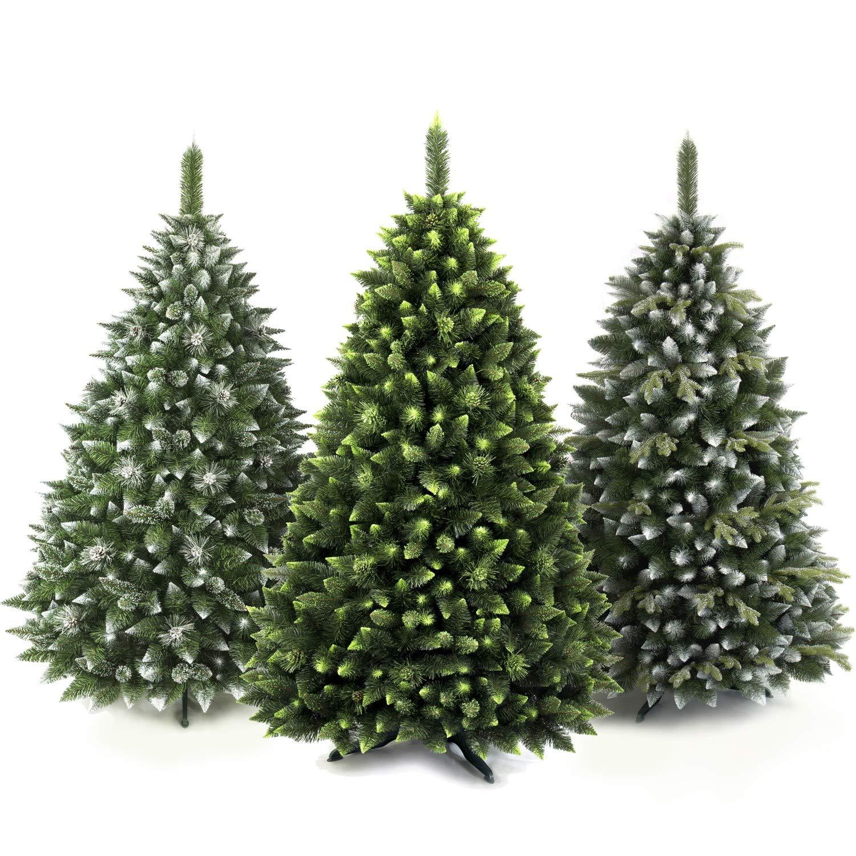 AmeliaHome 08031 250 cm Künstlicher Weihnachtsbaum PVC Tannenbaum Christbaum Kiefer Alice Weihnachtsdeko