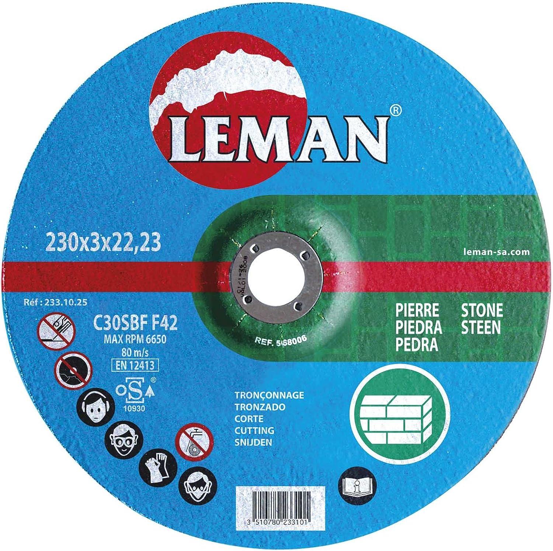 Leman 113.10.25 Disque tron/çonnage MD 115 x 3,0 x 22,23 mm