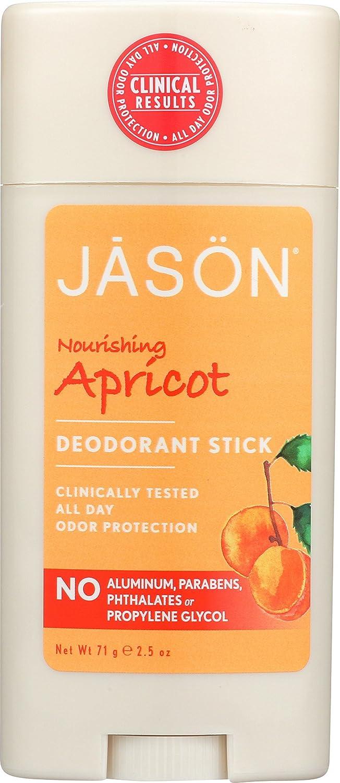 Jason Apricot Aluminum and Paraben Free Deodorant Stick, 2.5 Ounce Hain-Celestial thomaswi