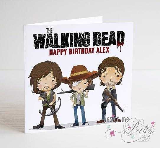 The Walking Dead Birthday Card Amazon Handmade