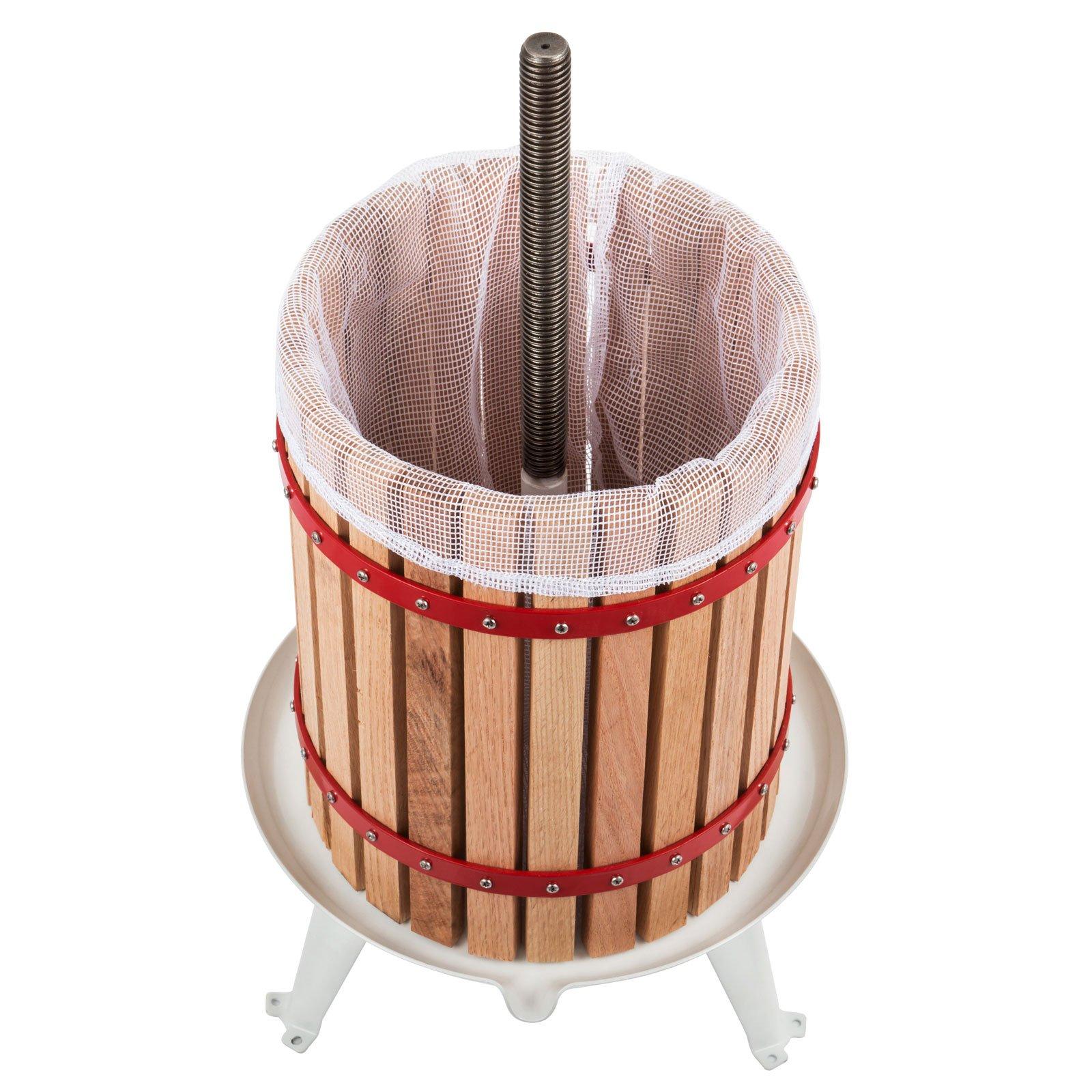 OrangeA 4.7 Gallon Fruit and Wine Press Solid Wood Basket Fruit and Wine Manual Press Press Cider Apple Grape Crusher Juice Maker (4.7 Gallon) by OrangeA (Image #3)