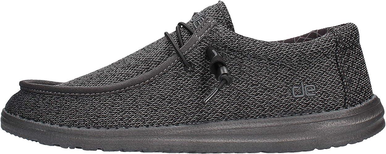 Dude Shoes Herren Wally Sox Micro Total Black UK8 EU42