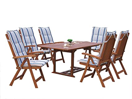 Muebles de jardín de grupo de Cuba 13 tlg con plataforma extensible ...