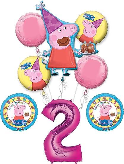 Amazon.com: Peppa Pig - Ramo de 2 cumpleaños para 2 años de ...