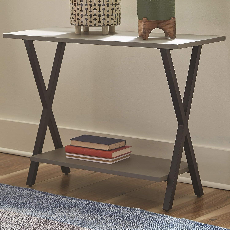 "Alaterre Furniture Cornerstone Concrete-Coated 31"" W End Table"