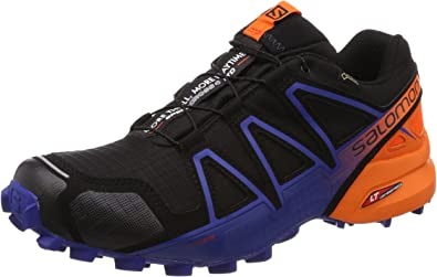 Salomon Speedcross 4 GTX LTD, Zapatillas de Trail Running para Hombre, Negro (Black/Scarlet Ibis/Surf The Web 000), 47 1/3 EU: Amazon.es: Zapatos y complementos