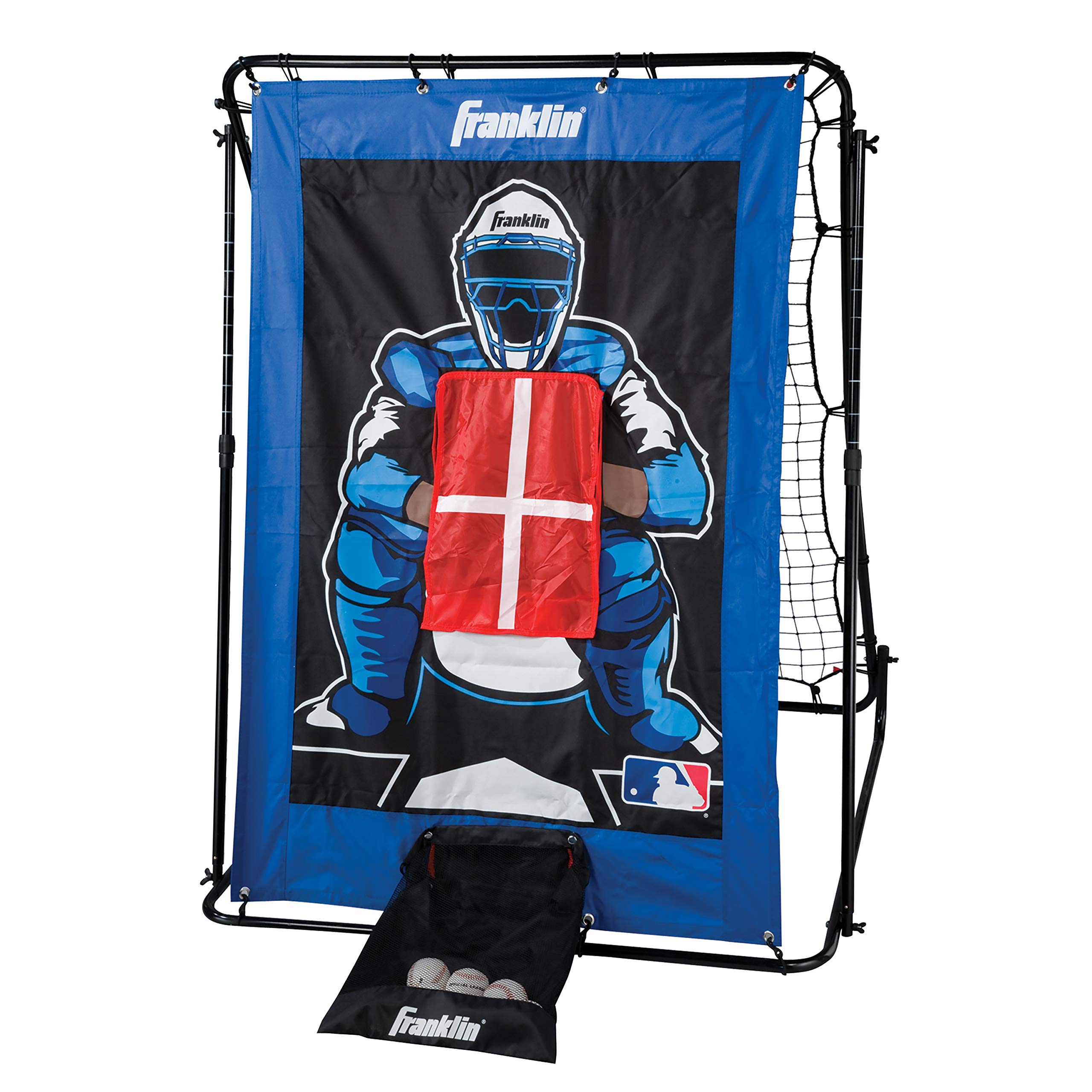 Franklin Sports Pitch Back Baseball Rebounder and Pitching Target - 2 in 1 Return Trainer and Catcher Target - Great for Practices by Franklin Sports