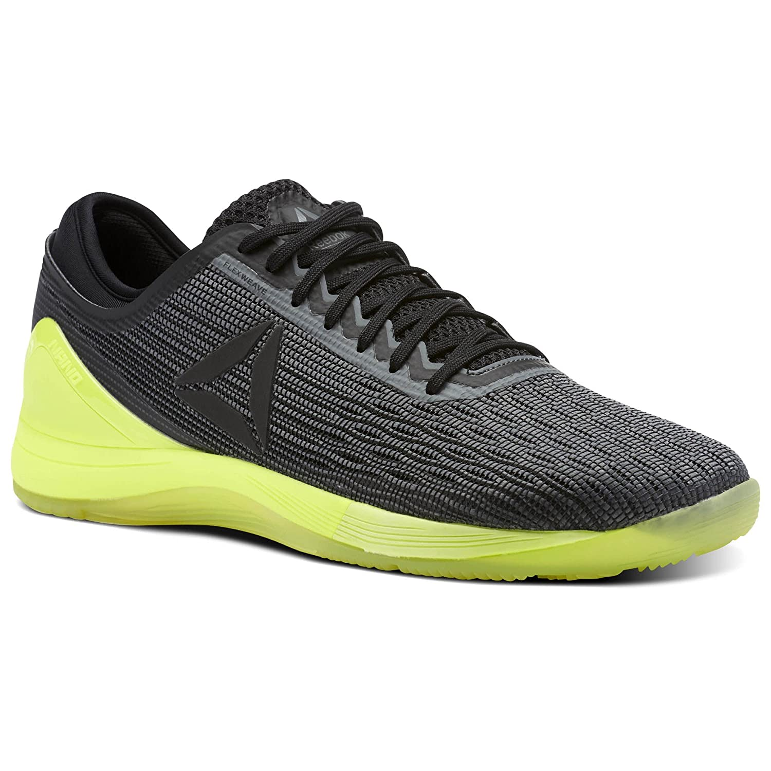 Reebok Men's Crossfit Nano 8.0 Flexweave B077V4BFQH 10.5 D(M) US|Alloy/Black/Solar Yellow