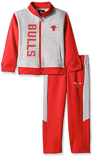 e4021427ba8 Outerstuff NBA NBA Toddler Chicago Bulls On The Line Jacket & Pants Fleece  Set, Red