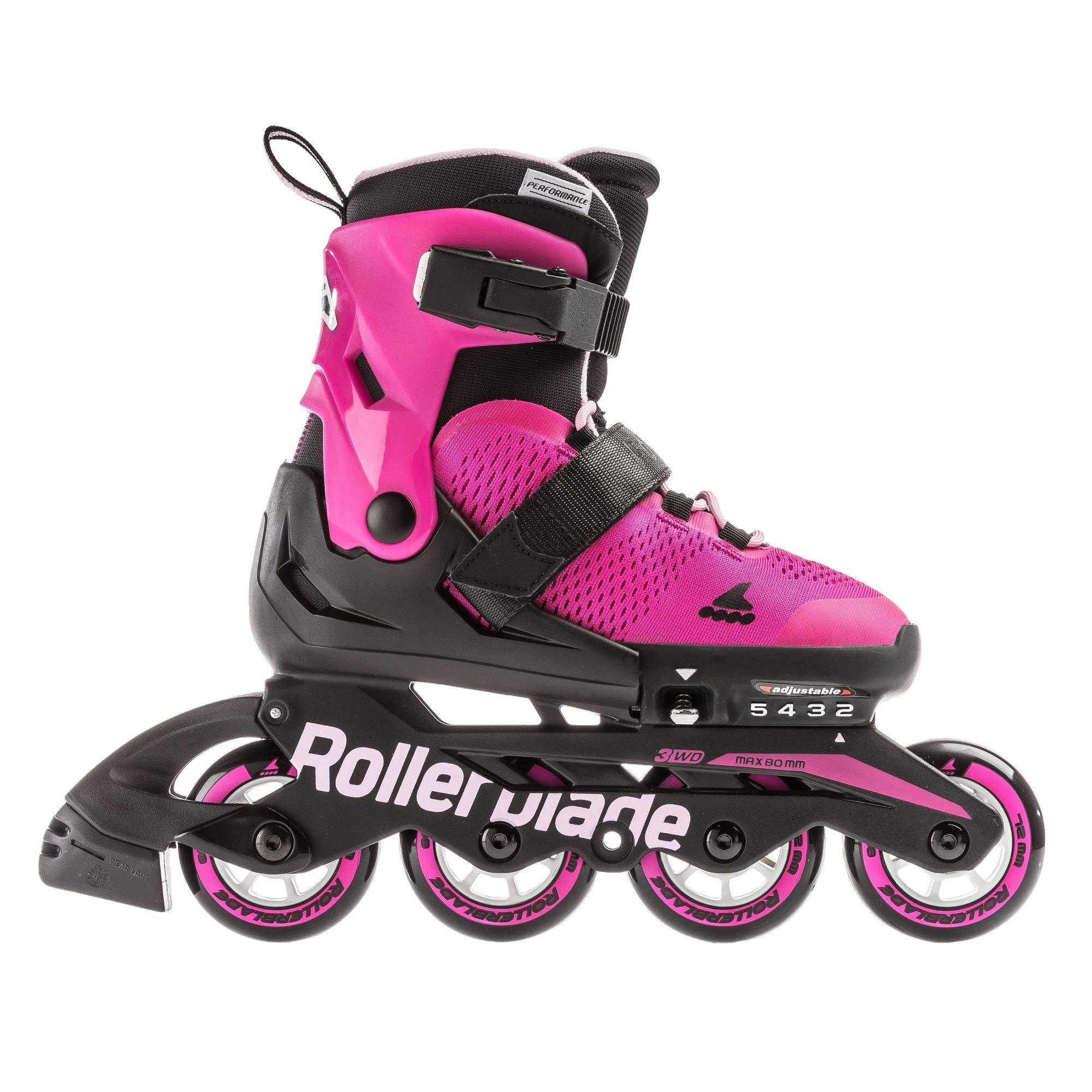Rollerblade Microblade Junior 4 Wheel Inline Skates (Pink, 17.5-21.0)