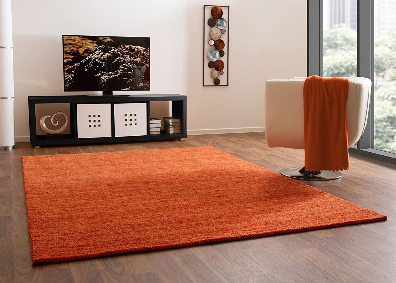 Gabbeh Teppich Haltu Young Fashion - Handarbeit aus 100% Schurwolle - orange, Größe  140x200 cm