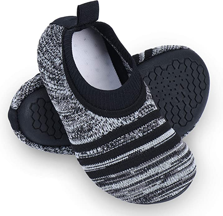 Dream Bridge Boys Slippers House Shoes with Velcro and Anti-Slip Sole