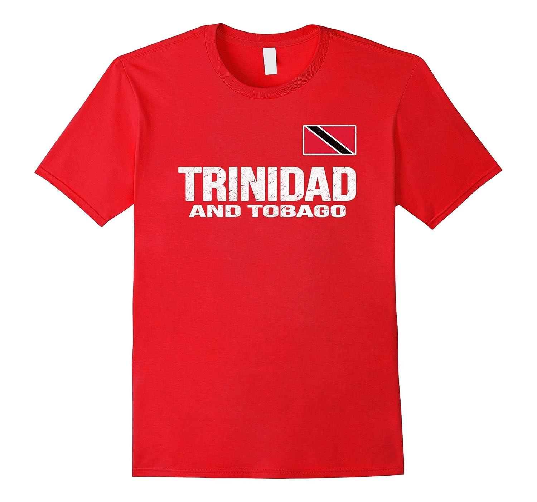 Trinidad and Tobago T-shirt Trinidadian Flag Distressed Tee-Art