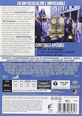 the walk DVD Italian Import: Amazon.co.uk: ben kingsley, joseph gordon-levitt: DVD & Blu-ray