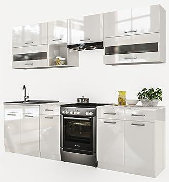 Küche 260 Cm | Neu Kuche Alina Weiss 260 Cm Kuchenzeile Kuchenblock Einbaukuche