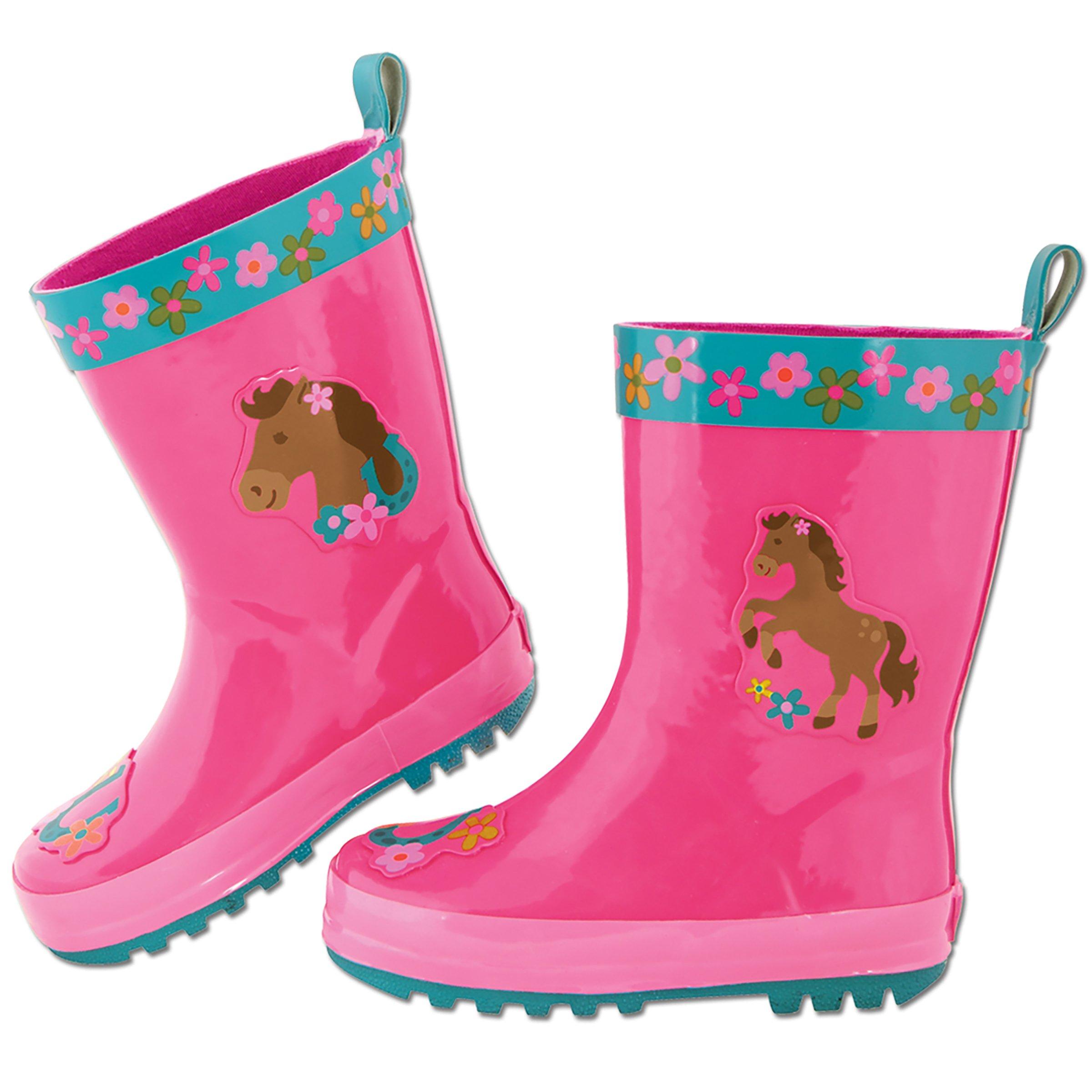 Stephen Joseph Rain Boots,Girl Horse,10