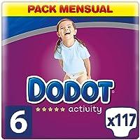 Dodot Activity Pañales Talla 6, 117 Pañales, 13kg+