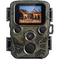 """Indoor Outdoor Spy Cam,FLAGPOWER Wildlife Game Camera 16MP 1080P HD Low Glow with Time Lapse 75ft 120°Wide Angle Infrared Night Vision 46pcs IR LEDs 2.4"""" LCD Screen IP56 Scouting Cam Deer Camera"""