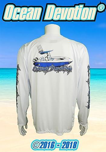 b13fe1127b5c Offshore Boat - Ocean Devotion- Performance White -XL Men's Long Sleeve T- Shirt -100% Poly -Keywords. Surfing, Fishing, Paddle Board, Offshore, t  shirt, ...