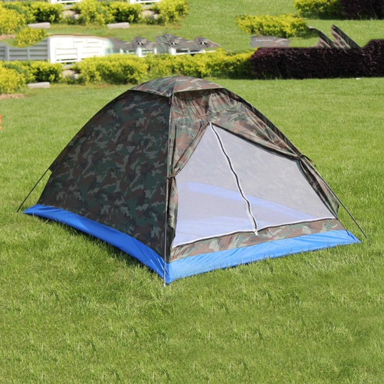 Camouflage FairytaleMM Simple Couche 2 Personnes Camouflage /Étanche Camping Tente de Randonn/ée L/ég/ère en Plein Air Plage Voyage Pique-Nique Tente De P/êche