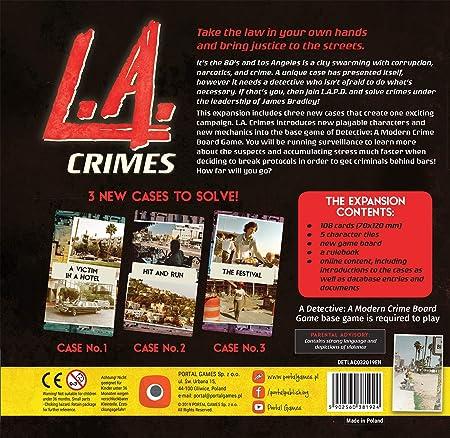 Portal Games POG1924 Detective: L.A. vídeo juego Crimes Expansion, colores mixtos , color/modelo surtido: Amazon.es: Juguetes y juegos