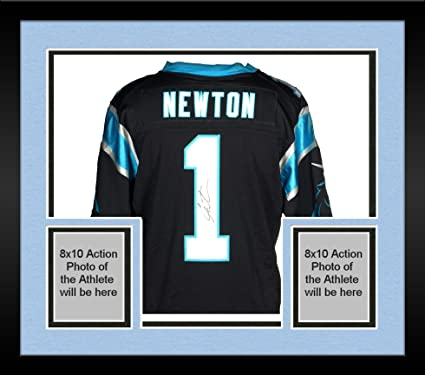 f45e45d7a08 Image Unavailable. Image not available for. Color  Framed Cam Newton  Carolina Panthers Autographed Nike Limited Black Jersey ...