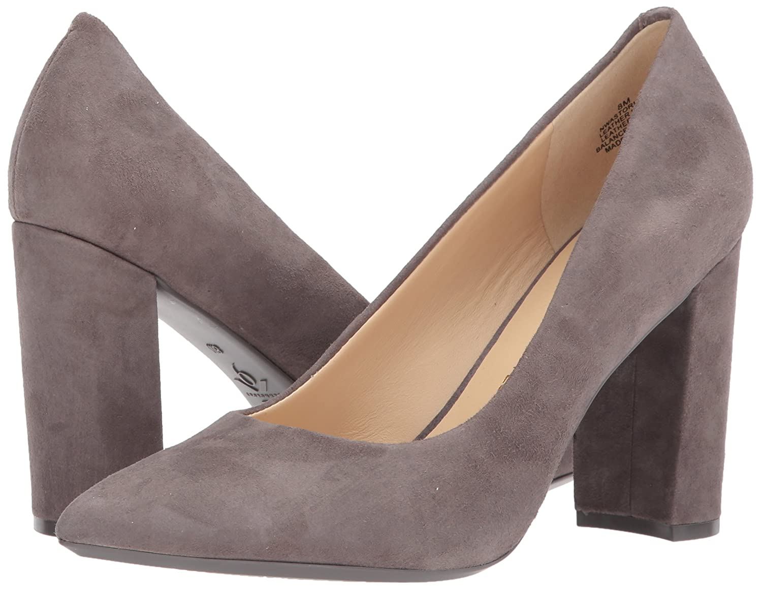 Nine West Women's Astoria Pump B06WP55PW1 5 B(M) US|Dark Grey Suede