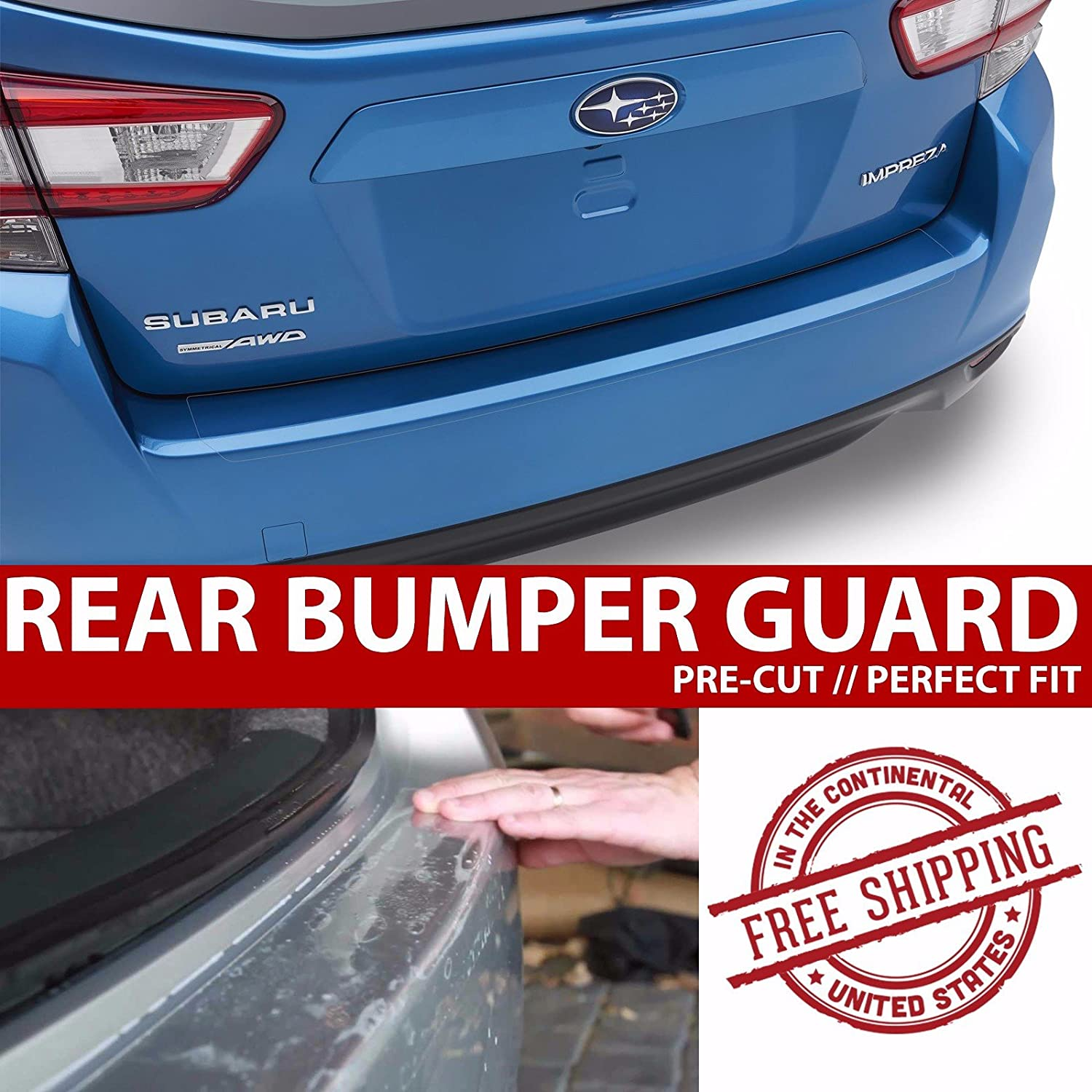 CloudWorks Rear Bumper Trunk Applique Paint Protection Clear Bra Film for 2010-2013 Mazda 3