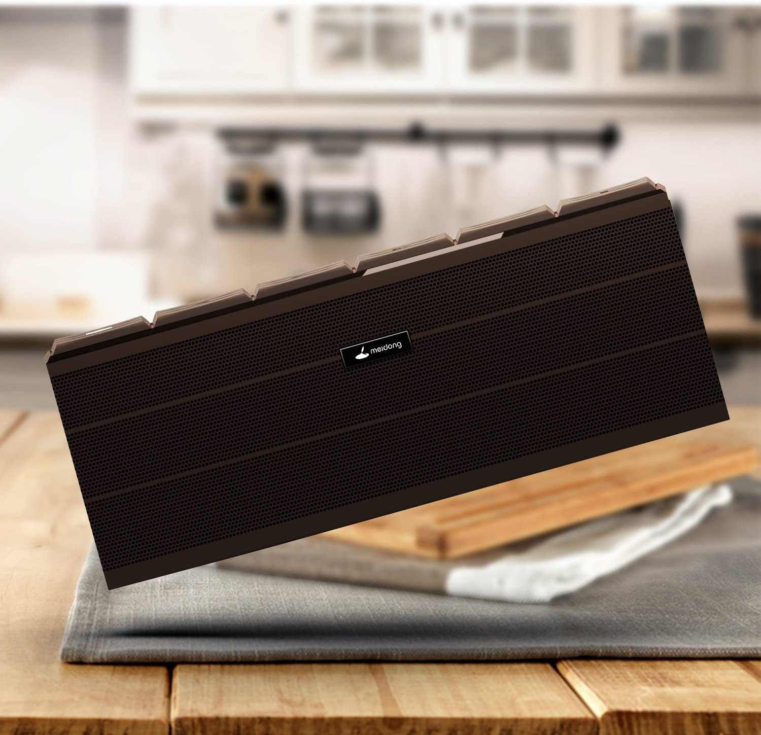 Hands-Free Function Bluetooth V4.0 NFC Tech with Hi-Fi Stereo Sound,Strong Bass Meidong iChocolate Portable Wireless Bluetooth Speaker Large Bluetooth Speakers Build-in Microphone Support