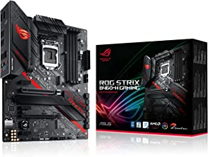ASUS ROG Strix B460-H Gaming B460 LGA 1200 (Intel 10th Gen) ATX Gaming Motherboard (Intel 1Gb LAN, USB 3.2 Gen 2,Thunderbolt 3 Header, Addressable Gen2 RGB Header and Aura Sync)