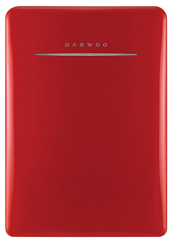 Daewoo FR-028RCNR Retro Compact Refrigerator 2.8 Cu. Ft. | Pure Red