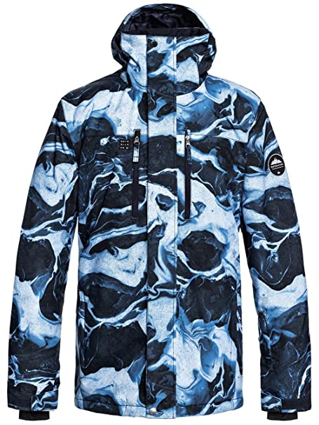 Quiksilver Grey-Simple Texture Mission Printed Snowboarding Jacket ... 7d7a6843712